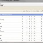 Screenshot DFBSpielplan - Tabellenansicht